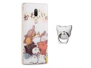Фирменная задняя панель-чехол-накладка из прозрачного 3D  силикона с объёмным рисунком для Xiaomi Mi5s Plus 5...