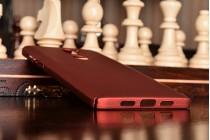 """Фирменная задняя панель-крышка-накладка из тончайшего и прочного пластика для Xiaomi Mi5s Plus"""" красная"""