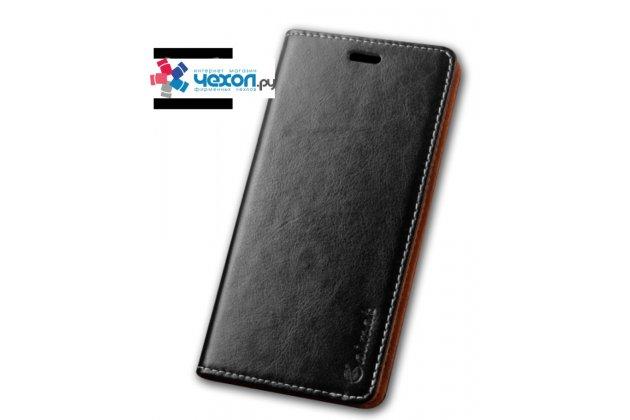 """Фирменная премиальная элитная чехол-книжка из качественной импортной кожи для Xiaomi Mi5s Plus 5.7"""" черная"""