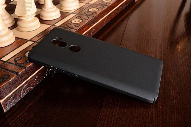 """Фирменная задняя панель-крышка-накладка из тончайшего и прочного пластика для Xiaomi Mi5s Plus""""  черная"""
