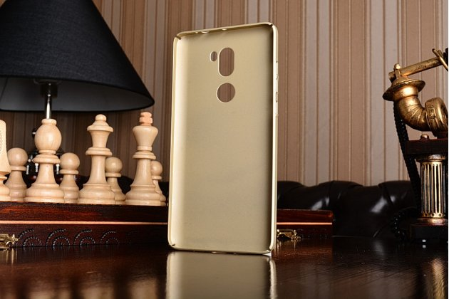"""Фирменная задняя панель-крышка-накладка из тончайшего и прочного пластика для Xiaomi Mi5s Plus"""" золотая"""