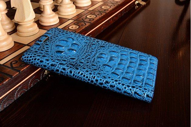 """Фирменный роскошный эксклюзивный чехол с объёмным 3D изображением кожи крокодила синий для Xiaomi Mi5s Plus 5.7"""". Только в нашем магазине. Количество ограничено"""