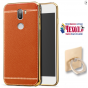 Фирменная премиальная элитная крышка-накладка на for Xiaomi Mi5s Plus коричневая из качественного силикона с д..