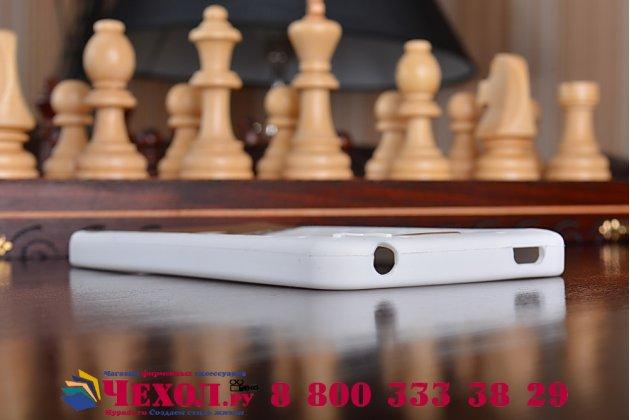 """Фирменная необычная уникальная полимерная мягкая задняя панель-чехол-накладка для Xiaomi Redmi Note 2/ Note 2 Prime 5.5 """"тематика Андроид в Белом Шоколаде"""""""