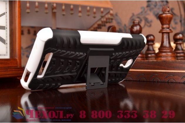 """Противоударный усиленный ударопрочный фирменный чехол-бампер-пенал для  Xiaomi Redmi Note 2/ Note 2 Prime 5.5"""" белый"""