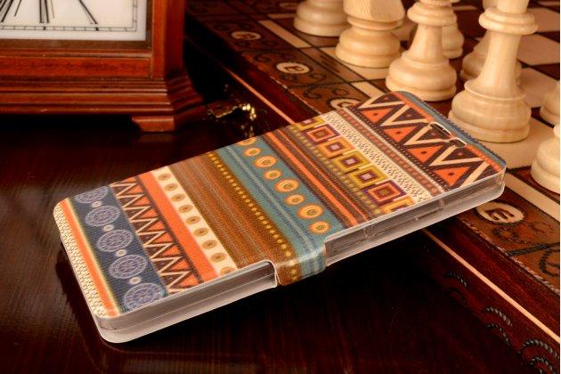 """Фирменный уникальный необычный чехол-книжка для Xiaomi Redmi Note 2/ Note 2 Prime 5.5""""   """"тематика Эклектические Узоры"""""""