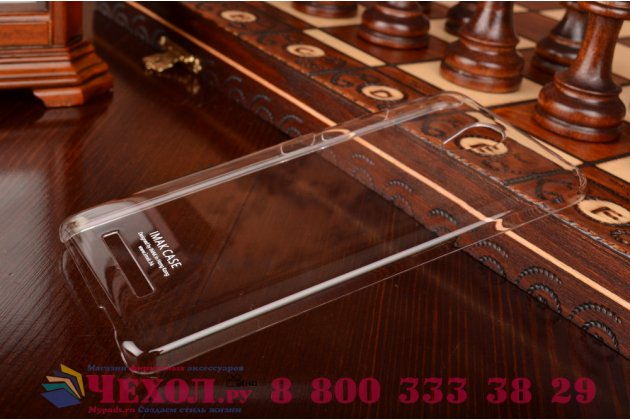 """Фирменная задняя панель-крышка-накладка из тончайшего и прочного пластика для Xiaomi Redmi Note 2/ Note 2 Prime 5.5""""  прозрачная"""