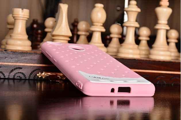 """Фирменная необычная уникальная полимерная мягкая задняя панель-чехол-накладка для Xiaomi Redmi 3 Pro/ 3S 5.0 """"тематика Андроид в Клубничном Шоколаде"""""""