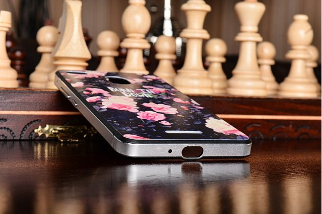 """Фирменная роскошная задняя панель-чехол-накладка из металла с объемным  3D изображением  на Xiaomi Redmi 3 Pro/ 3S 5.0 с безумно красивым рисунком  """"Тематика Розы"""""""