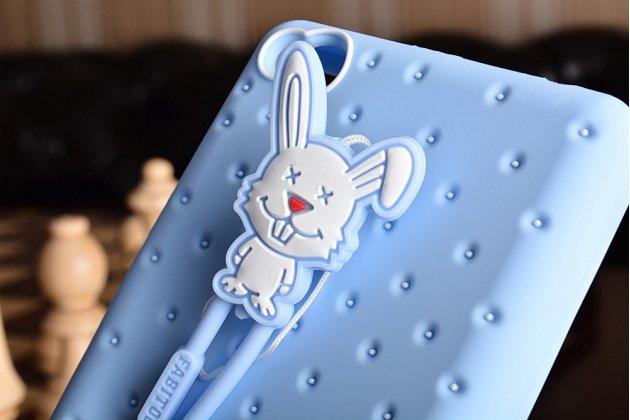 """Фирменная необычная уникальная полимерная мягкая задняя панель-чехол-накладка для Xiaomi Redmi 3 Pro/ 3S 5.0 """"тематика Андроид в Черничном  Шоколаде"""""""