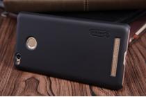 Фирменная задняя панель-крышка-накладка из тончайшего и прочного пластика для Xiaomi Redmi 3 Pro/ 3S 5.0 черная