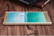 Фирменная задняя панель-крышка-накладка из тончайшего и прочного пластика для Xiaomi Redmi 3 Pro/ 3S 5.0 золотая