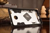 Фирменная задняя противоударная панель-крышка-накладка из прочного пластика для Xiaomi Redmi 3 Pro/ 3S 5.0  серебристая
