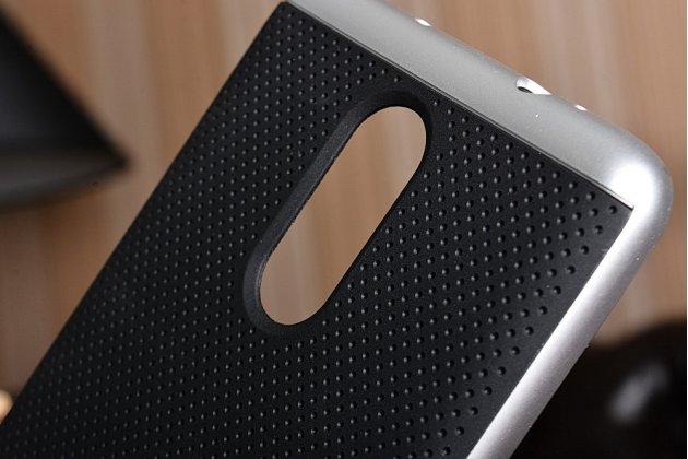 """Задняя панель-крышка из тончайшего мягкого силикона для Xiaomi Redmi 3 Pro/ 3S 5.0 с матовой отделкой """"под карбон"""" черная"""