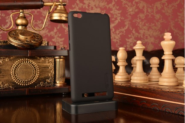 Фирменная задняя панель-крышка-накладка из тончайшего и прочного пластика для Xiaomi Redmi 3/3X 5.0  черная