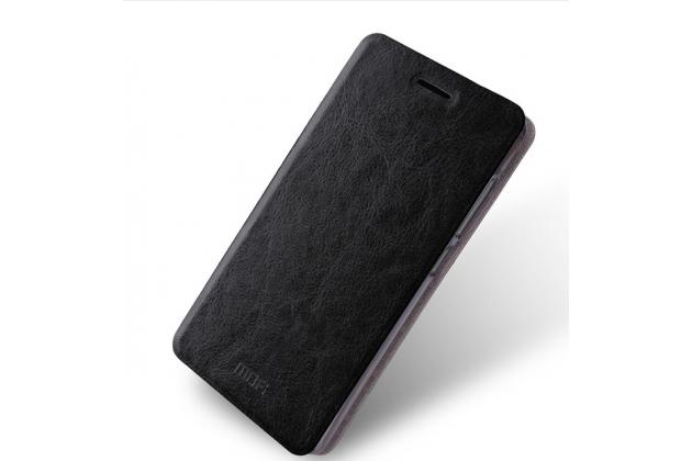 Фирменный чехол-книжка  металлической основе для Xiaomi Redmi 3/3X 5.0 черный