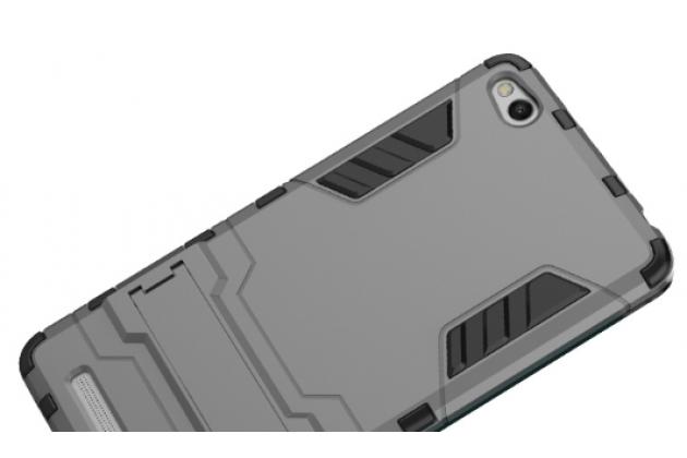 Противоударный усиленный ударопрочный фирменный чехол-бампер-пенал для Xiaomi Redmi 3/3X 5.0 черный