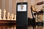 """Фирменный оригинальный чехол-книжка для Xiaomi Redmi 4 2GB+16Gb/ Android 6.0 / 1280:720 / 5.0"""" / вспышка справа  черный водоотталкивающий с окошком для входящих вызовов"""