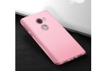 """Фирменная ультра-тонкая силиконовая задняя панель-чехол-накладка с защитой боковых кнопок для Xiaomi Redmi 4 2GB+16Gb/ Android 6.0 / 1280:720 / 5.0"""" / вспышка справа розовая"""