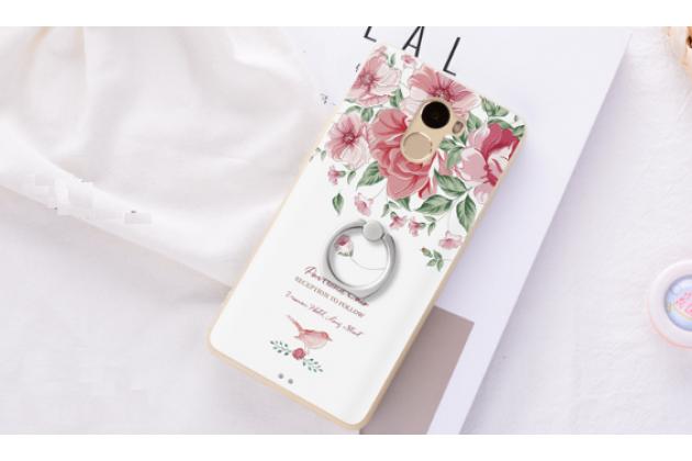 """Фирменная ультра-тонкая задняя панель-крышка-накладка из 3D силикона для Xiaomi Redmi 4A 2Gb+16Gb 5.0""""  объёмным рисунком """"тематика Красные цветы"""""""
