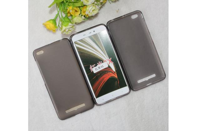 Фирменная ультра-тонкая полимерная из мягкого качественного силикона задняя панель-чехол-накладка для Xiaomi Redmi 4A черная