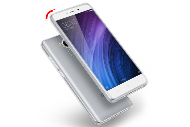 Фирменная ультра-тонкая полимерная из мягкого качественного силикона задняя панель-чехол-накладка для Xiaomi Redmi 4A прозрачная