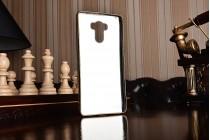 """Фирменная премиальная элитная крышка-накладка из качественного силикона с дизайном под кожу для for Xiaomi Redmi 4 Pro 3GB 32Gb/ Android 6.0 / 1920:1080 / 5.0"""" вспышка слева коричневая"""