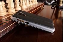 """Фирменный оригинальный чехол-книжка для Xiaomi Redmi 4 Pro 3GB+32Gb/ Android 6.0 / 1920:1080 / 5.0"""" / вспышка слева  черный водоотталкивающий с окошком для входящих вызовов"""