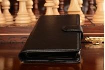 Фирменный чехол-книжка из качественной импортной кожи с мульти-подставкой застёжкой и визитницей для Ксиаоми Редми 3 5.0 черный