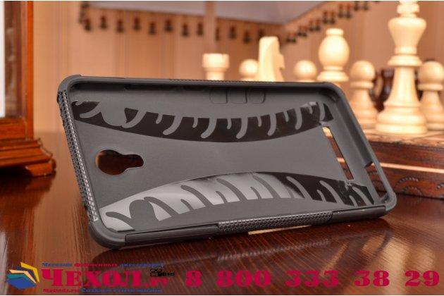 """Противоударный усиленный ударопрочный фирменный чехол-бампер-пенал для  Xiaomi Redmi Note 2/ Note 2 Prime 5.5"""" черный"""