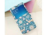 Фирменный чехол-книжка с безумно красивым расписным рисунком Оленя в цветах на Xiaomi Redmi Note 2/ Note 2 Pri..