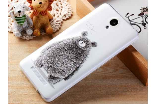 """Фирменная необычная из легчайшего и тончайшего пластика задняя панель-чехол-накладка для Xiaomi Redmi Note 2/ Note 2 Prime 5.5 с объёмным 3D рисунком  """"тематика Бурый Мишка"""""""