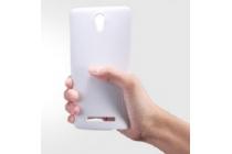 """Фирменная задняя панель-крышка-накладка из тончайшего и прочного пластика для Xiaomi Redmi Note 2/ Note 2 Prime 5.5"""" белая"""