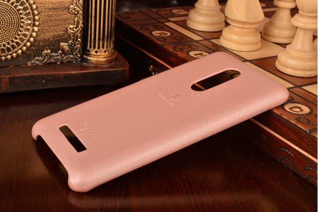 Фирменная премиальная элитная крышка-накладка на Xiaomi Redmi Note 3 Pro SE (Special Edition) / 152.5 мм / Android 6.0 розовая из качественного силикона с дизайном под кожу