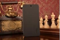 Фирменный чехол-футляр-книжка для Xiaomi Redmi Note 3 Pro SE (Special Edition) / 152.5 мм / Android 6.0 черный кожаный