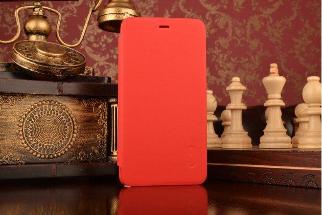Фирменный оригинальный чехол-футляр-книжка для Xiaomi Redmi Note 3 Pro SE (Special Edition) / 152.5 мм / Android 6.0 красный кожаный