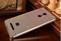 """Фирменная металлическая задняя панель-крышка-накладка из тончайшего облегченного авиационного алюминия для Xiaomi Redmi Note 3 /Xiaomi Redmi Note 2 Pro 5.5""""  серебристая"""