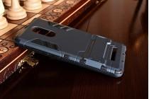 """Противоударный усиленный ударопрочный фирменный чехол-бампер-пенал для Xiaomi Redmi Note 3 /Xiaomi Redmi Note 2 Pro 5.5""""  черный"""