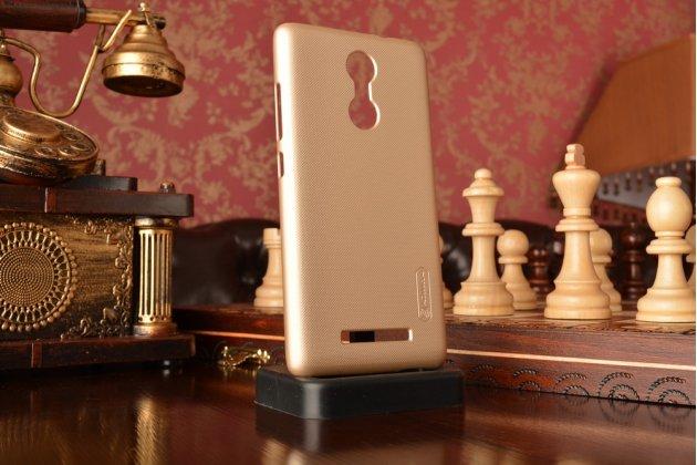 """Фирменная задняя панель-крышка-накладка из тончайшего и прочного пластика для Xiaomi Redmi Note 3 /Xiaomi Redmi Note 2 Pro 5.5"""" золотая"""