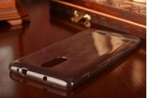 """Фирменная задняя полимерная панель-крышка-накладка из ультра-тонкого силикона для Xiaomi Redmi Note 3 /Xiaomi Redmi Note 2 Pro 5.5"""" черная"""