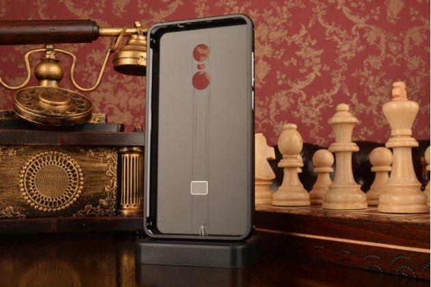 """Фирменная металлическая задняя панель-крышка-накладка из тончайшего облегченного авиационного алюминия для Xiaomi Redmi Note 4 5.5"""" черная"""