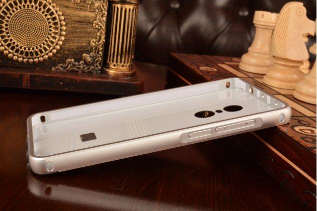 """Фирменная металлическая задняя панель-крышка-накладка из тончайшего облегченного авиационного алюминия для Xiaomi Redmi Note 4 5.5"""" серебрянная"""