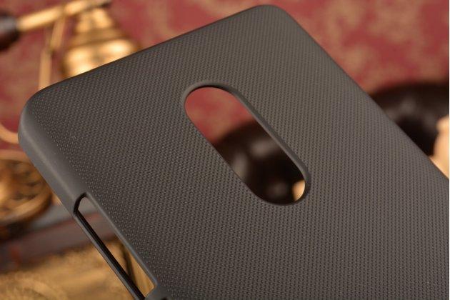 """Фирменная задняя панель-крышка-накладка из тончайшего и прочного пластика для Xiaomi Redmi Note 4 5.5"""" черная"""