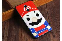 """Фирменная задняя панель-чехол-накладка из 3D силикона с объёмным рисунком для Xiaomi Redmi Note 4 """"тематика Марио"""""""