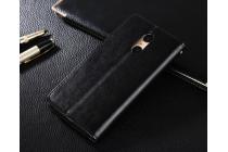 """Фирменный чехол-книжка из качественной импортной кожи с подставкой застёжкой и визитницей для Xiaomi Redmi Note 4 5.5"""" черный"""