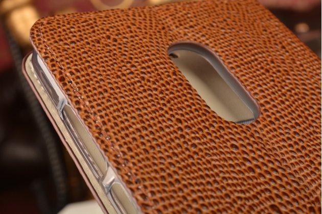 """Фирменный роскошный эксклюзивный чехол с объёмным 3D изображением кожи крокодила коричневый для  Xiaomi Redmi Note 4 5.5"""". Только в нашем магазине. Количество ограничено"""