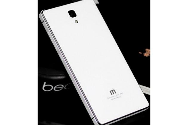 Фирменная металлическая задняя панель-крышка-накладка из тончайшего облегченного авиационного алюминия для Xiaomi Redmi Note/Hongmi Note enhanced/standart белая