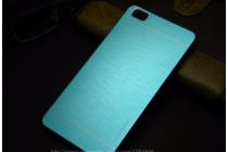 Фирменная металлическая задняя панель-крышка-накладка из тончайшего облегченного авиационного алюминия для Xiaomi Mi Note/Mi Note Pro голубая
