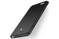 Фирменная задняя панель-крышка-накладка из тончайшего и прочного пластика для Xiaomi Redmi Note черная