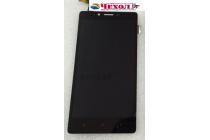 Фирменный LCD-ЖК-сенсорный дисплей-экран-стекло с тачскрином на телефон Xiaomi Redmi Note 1 /Hongmi Note черный + гарантия
